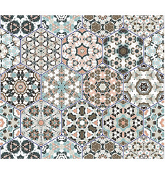 Set of hexagonal patterns vector