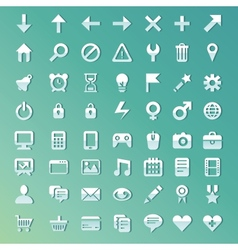 set with internet and technology icons vector image