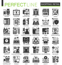 shopping retail and commerce black mini concept vector image