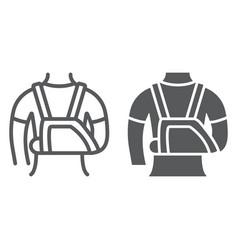 shoulder immobilzer line icon medical vector image