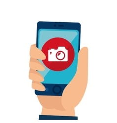 smartphone with camera app vector image