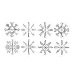 snowflakes icon set vector image