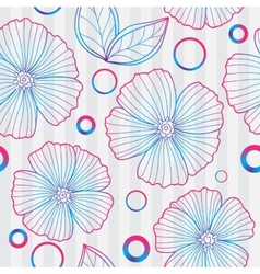 Spring purple floral seamless pattern vector image