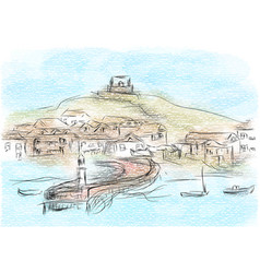 St ives vector
