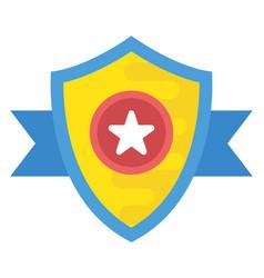 Star shield vector