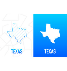 Texas - us state contour line in white and blue vector