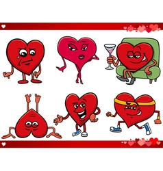 valentine and love cartoon set vector image