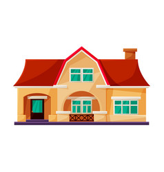 Villa house iconcartoon icon vector