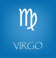 virgo zodiac sign icon simple vector image