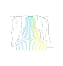 waterfall cascade vector image
