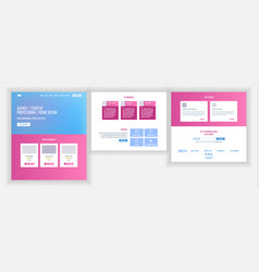 website template page business project vector image
