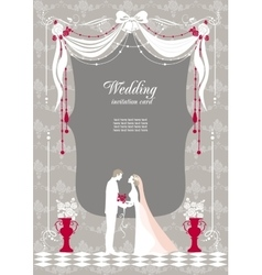 Wedding invitation with space for text vector image