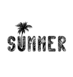 word summer written in oversized letters made vector image