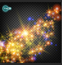 a magical christmas star on the milky way is a vector image vector image