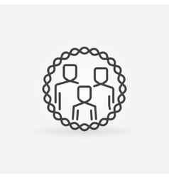 Family outline badge vector image