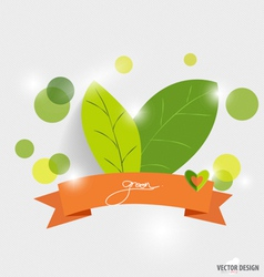 Green ecology concept with green leaves vector image