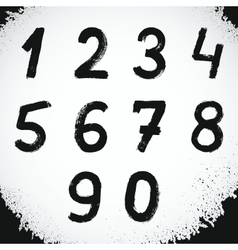 Grunge Style Font Grunge Numbers Symbols vector image vector image