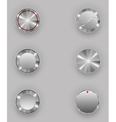 Metal buttons vector image