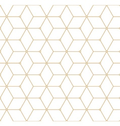 Retro Pattern with Golden Squares vector image vector image
