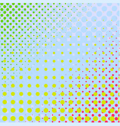 set of halftone dots colorful background vector image