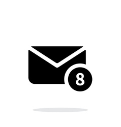 Mail with numbers icon on white background vector image vector image