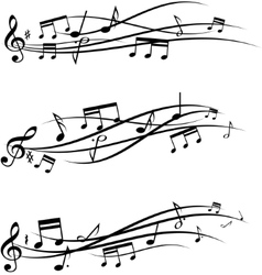 Music notes set vector image vector image