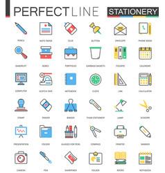 office stationery modern flat line design vector image