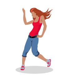 street dancer woman in flat design vector image vector image