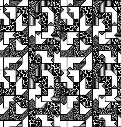 abstract black and white geometric pattern in vector image vector image
