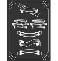 Banners On Blackboard vector image vector image