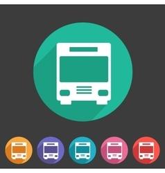 Bus icon flat web sign symbol logo label vector image vector image