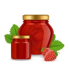 strawberry jam realistic vector image