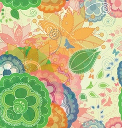 Butterflies and Garden Inspired Seamless Pattern vector image vector image