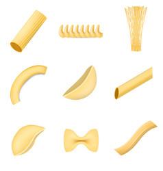 macaroni pasta spaghetti mockup set realistic vector image