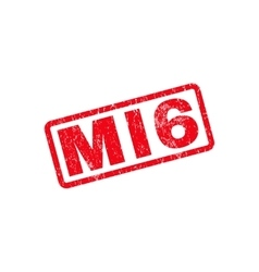 MI6 Text Rubber Stamp vector image vector image