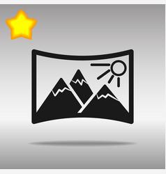 panorama black icon button logo symbol concept vector image vector image