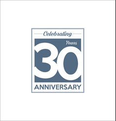 30 years anniversary modern design background vector
