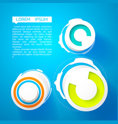 abstract innovative template vector image