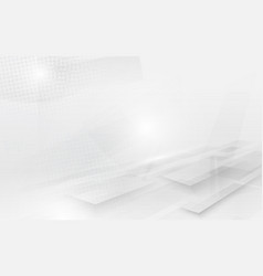 abstract white and grey modern perspective square vector image