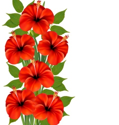 Background with a bunch red flowers vector