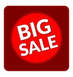 Big sale button vector