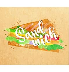Burger sandwich kraft vector image