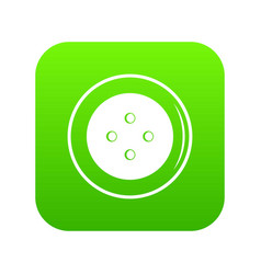 button for clothing icon digital green vector image
