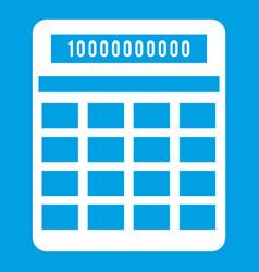 Calculator icon white vector
