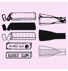 Chewing gum bubble gum vector