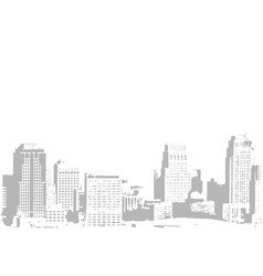 City buildings hand drawn vector