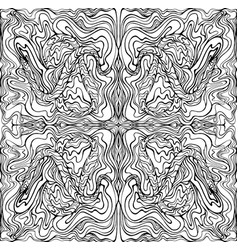 coloring page abstract pattern with maze waves vector image