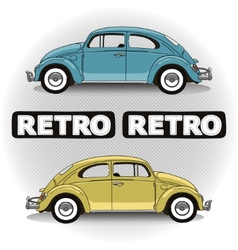 Concept retro cars vector