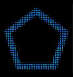 contour pentagon halftone icon vector image