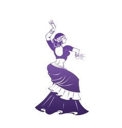 Dancing woman in expressive pose flat silhouette vector image